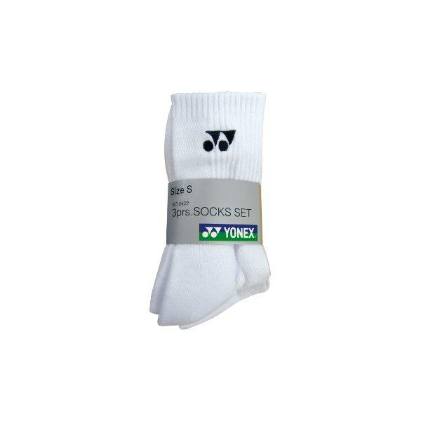 Yonex 3 Pack Socks - W8422