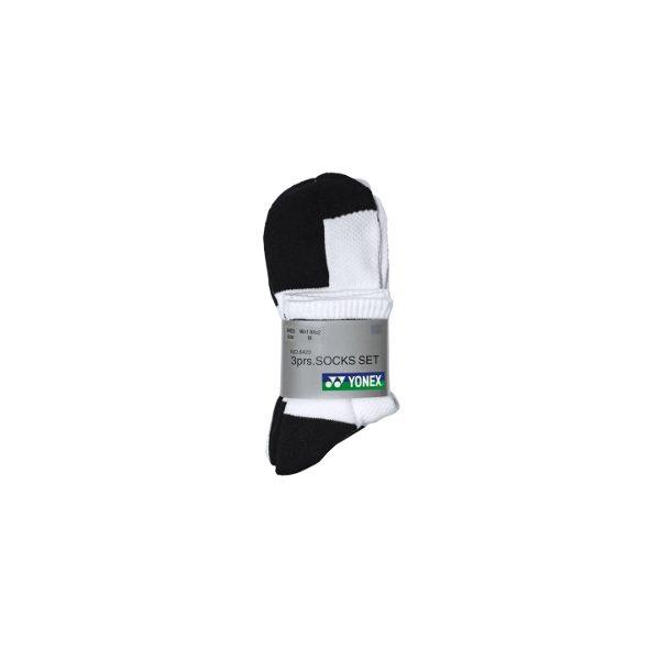 Yonex 3 Pack Short Ankle Socks W8423
