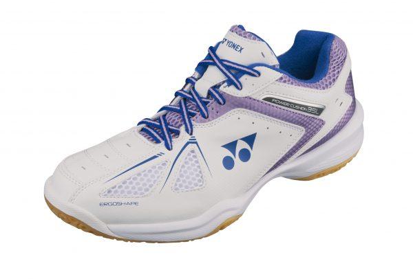 Yonex SHB35LEX Ladies Badminton Shoes White/Lavender