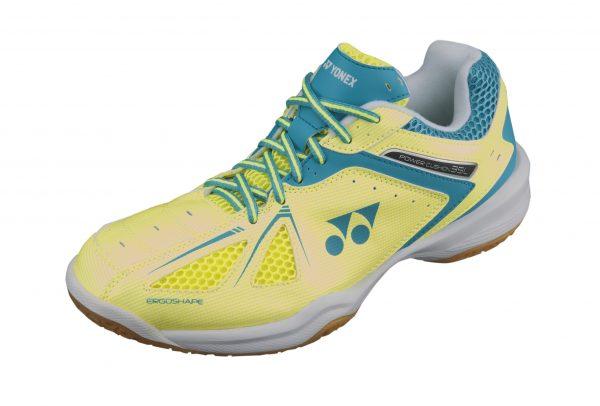 Yonex SHB35LEX Ladies Badminton Shoes Yellow/Saxe